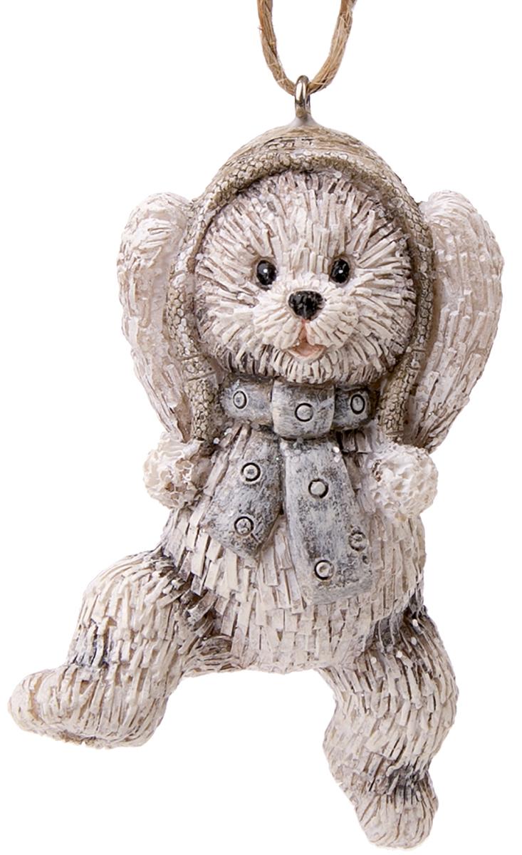 Украшение новогоднее подвесное Magic Time Забавный медвежонок. 7513775137Новогоднее подвесное украшение Забавный медвежонок из полирезины, 4,5х3,5х7,5, артикул 75137