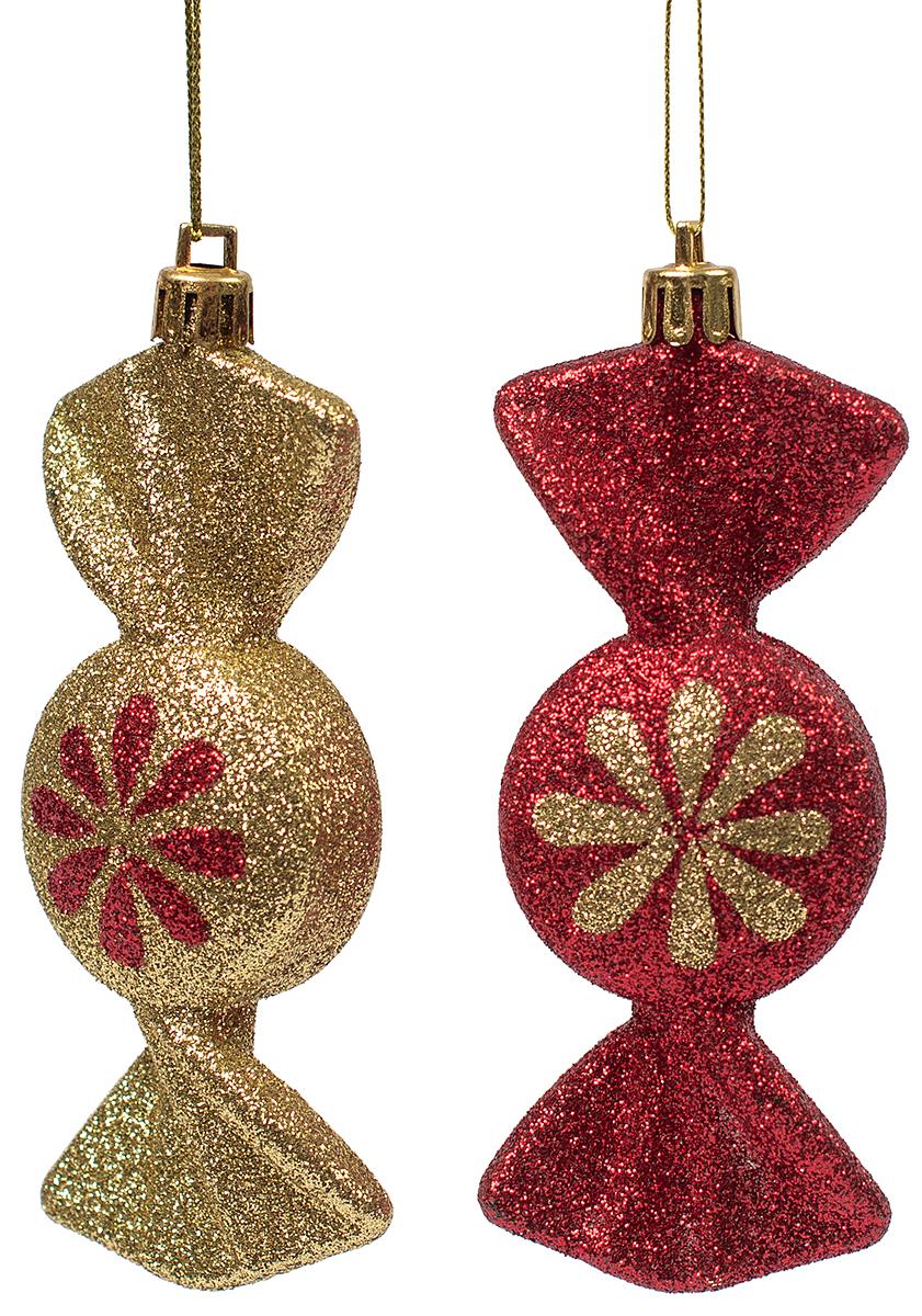 Украшение новогоднее подвесное Magic Time, 2 шт. 7545675456Новогоднее подвесное украшение из пластика (10х4 см), набор из 2 шт, 17x4см, артикул 75456