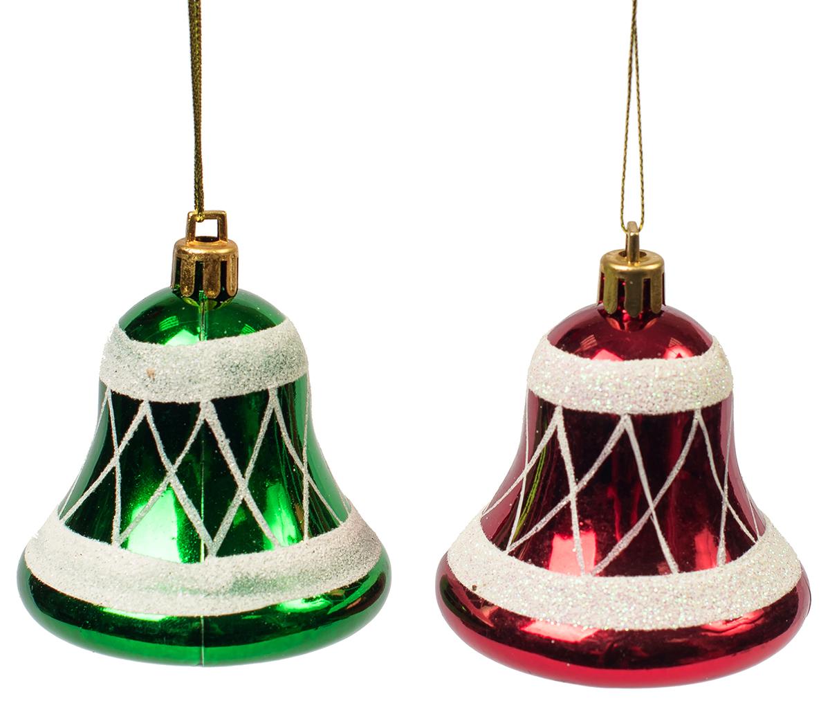 Украшение новогоднее подвесное Magic Time, 2 шт. 7546075460Новогоднее подвесное украшение, выполненное из пластика, в виде колокольчиков. В наборе 2 шт.