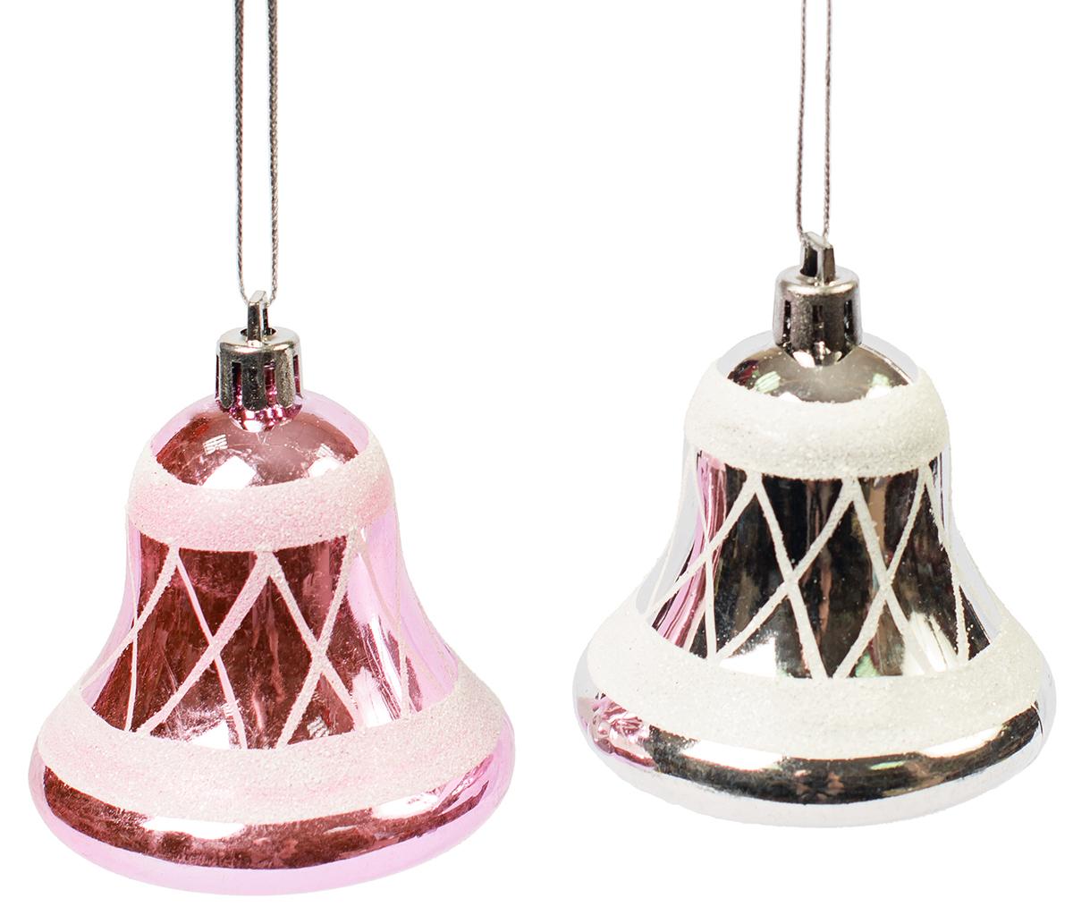 Украшение новогоднее подвесное Magic Time, 2 шт. 7546175461Новогоднее подвесное украшение, выполненное из пластика, в виде колокольчиков.В наборе 2 шт.