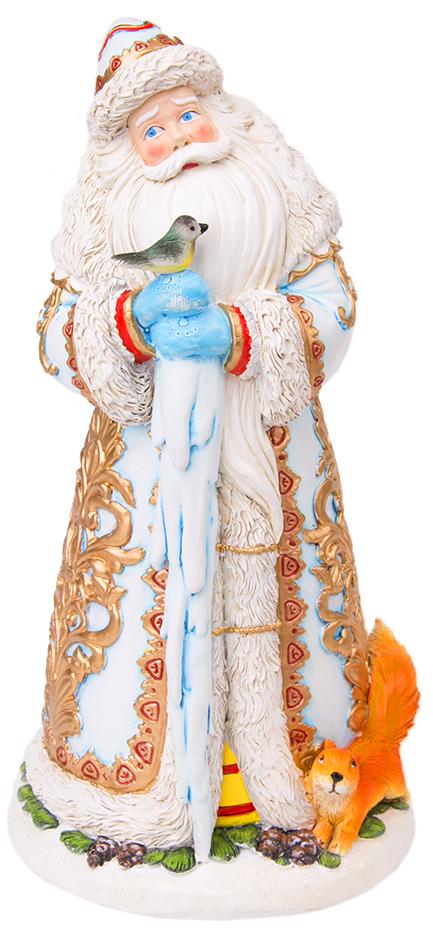 Фигурка новогодняя Magic Time Дед мороз с птичками. 7552875528Фигурка новогодняя ДЕД МОРОЗ С ПТИЧКАМИ из полирезины, 25 см, артикул 75528