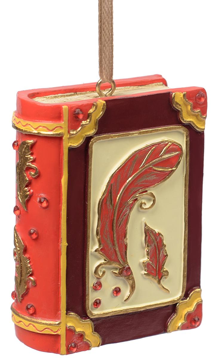 Украшение новогоднее подвесное Magic Time Книга Сказок. 7556775567Новогоднее подвесное украшение из полирезины КНИГА СКАЗОК, 5x2x7 см, артикул 75567