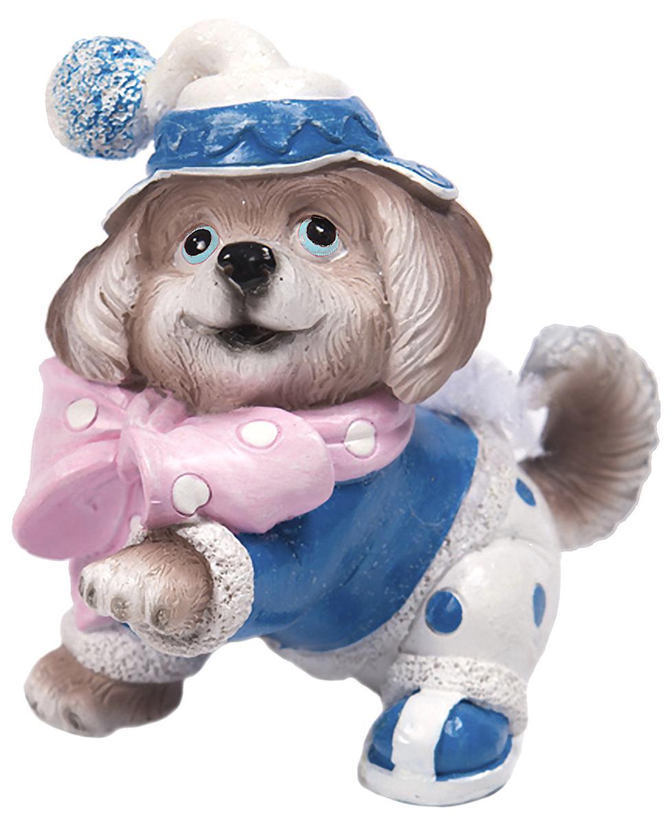 Фигурка декоративная Magic Time Собачка с розовым бантом сетчатый open crotch кэтсьюит с розовым бантом