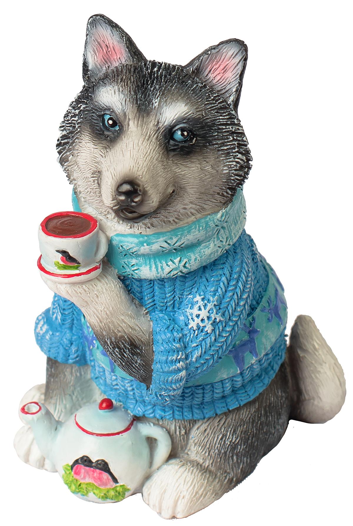 Фигурка декоративная Magic Time Собака с чашкой чая фигурка декоративная magic time собачка с розовым бантом