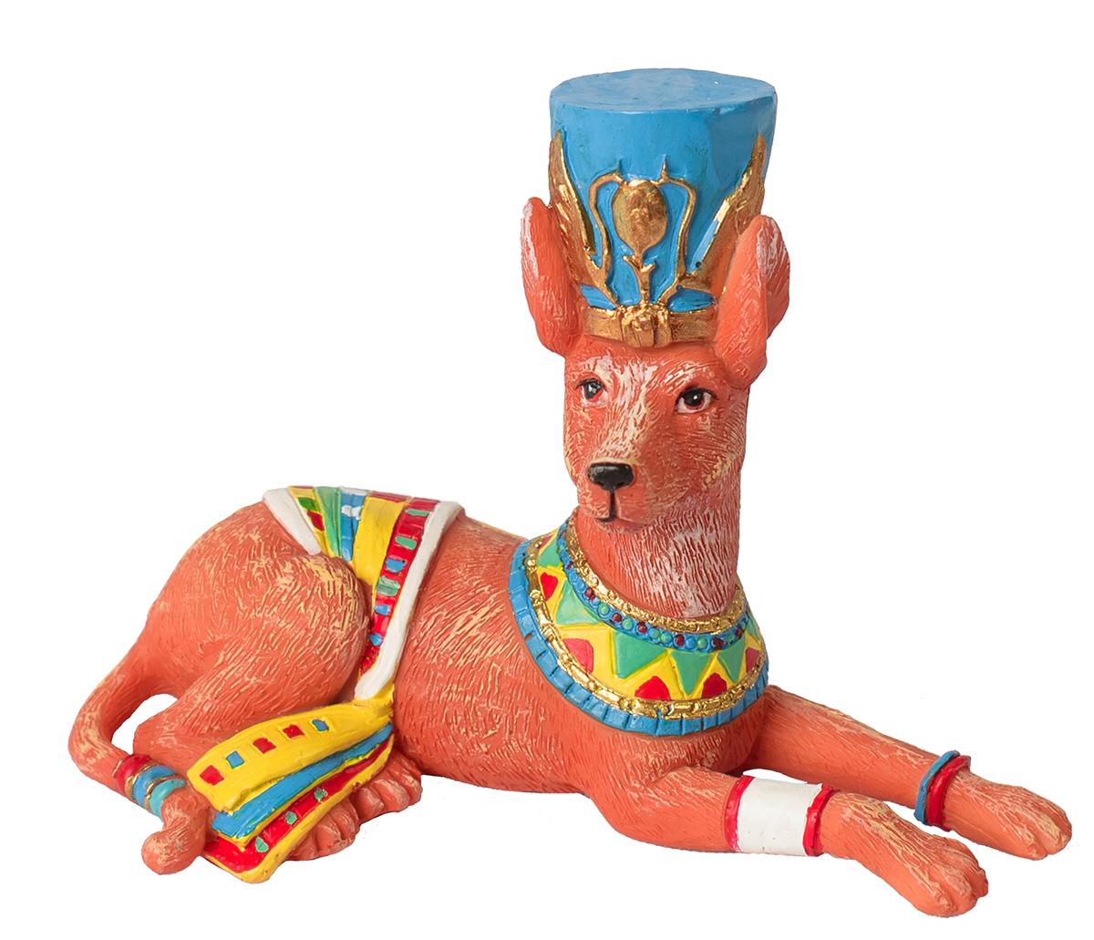 Фигурка декоративная Magic Time Собака-египтянка. 7560975609Фигурка декоративная Magic Time, выполненная из полирезины, станет оригинальным подарком для всех любителей необычных вещей. Она выполнена в виде собаки с шаром. Изысканный сувенир станет прекрасным дополнением к интерьеру. Вы можете поставить фигурку в любом месте, где она будет удачно смотреться и радовать глаз.