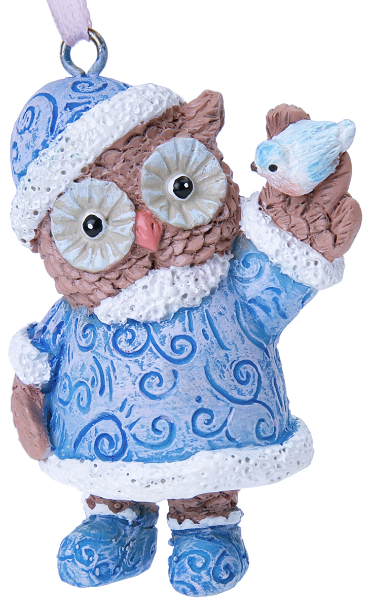 Украшение новогоднее подвесное Magic Time Совушка с птичкой. 7562375623Оригинальное новогоднее украшение Magic Time выполнено из полирезины в виде совы с птичкой. С помощью специальной петельки украшение можно повесить в любом понравившемся вам месте. Но, конечно же, удачнее всего такая игрушка будет смотреться на праздничной елке. Новогодние украшения приносят в дом волшебство и ощущение праздника. Создайте в своем доме атмосферу веселья и радости, украшая всей семьей новогоднюю елку нарядными игрушками, которые будут из года в год накапливать теплоту воспоминаний.