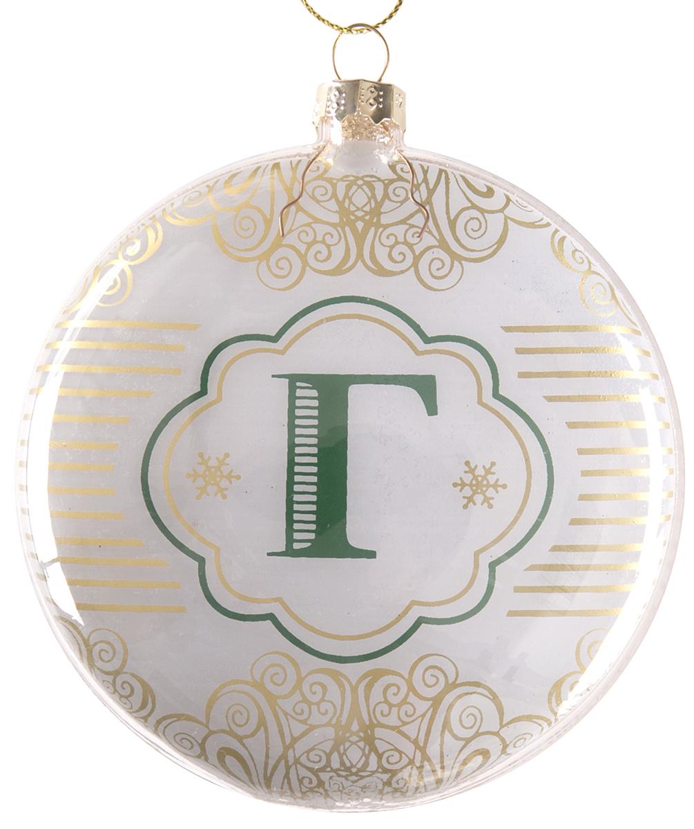Украшение новогоднее подвесное Magic Time Буква Г, стеклянное75825Новогоднее подвесное украшение, выполненное из стекла, в виде буквы Г.