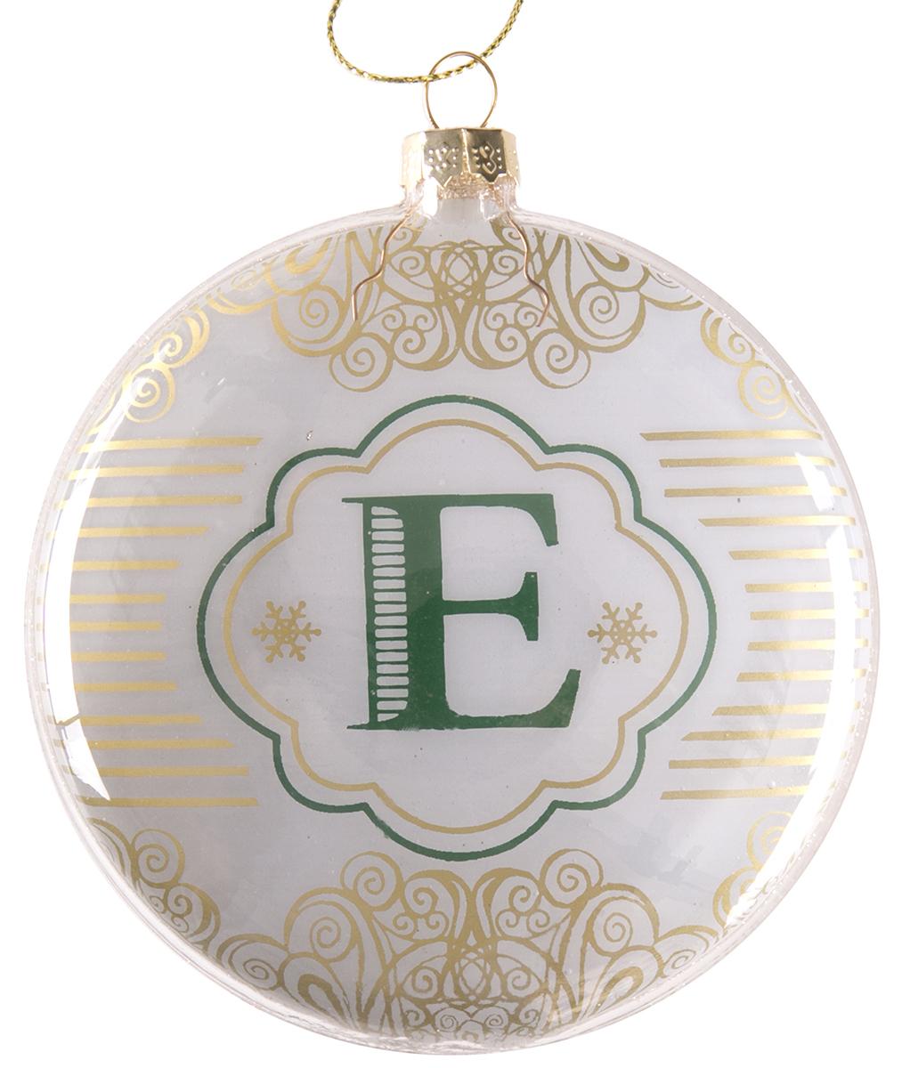 Украшение новогоднее подвесное Magic Time Буква Е, стеклянное. 7582775827Новогоднее подвесное украшение из стекла БУКВА Е, 10 см, артикул 75827