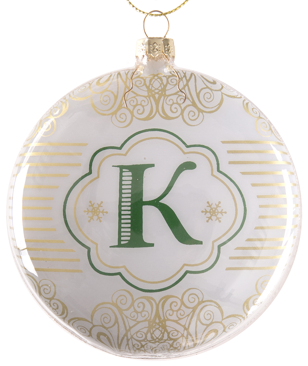 Украшение новогоднее подвесное Magic Time Буква К, стеклянное75830Новогоднее подвесное украшение, выполненное из стекла, в виде буквы К.