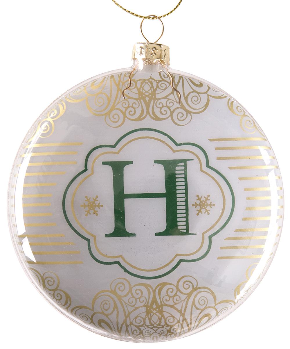 Украшение новогоднее подвесное Magic Time Буква Н, стеклянное. 7583375833Новогоднее подвесное украшение из стекла БУКВА Н, 10 см, артикул 75833