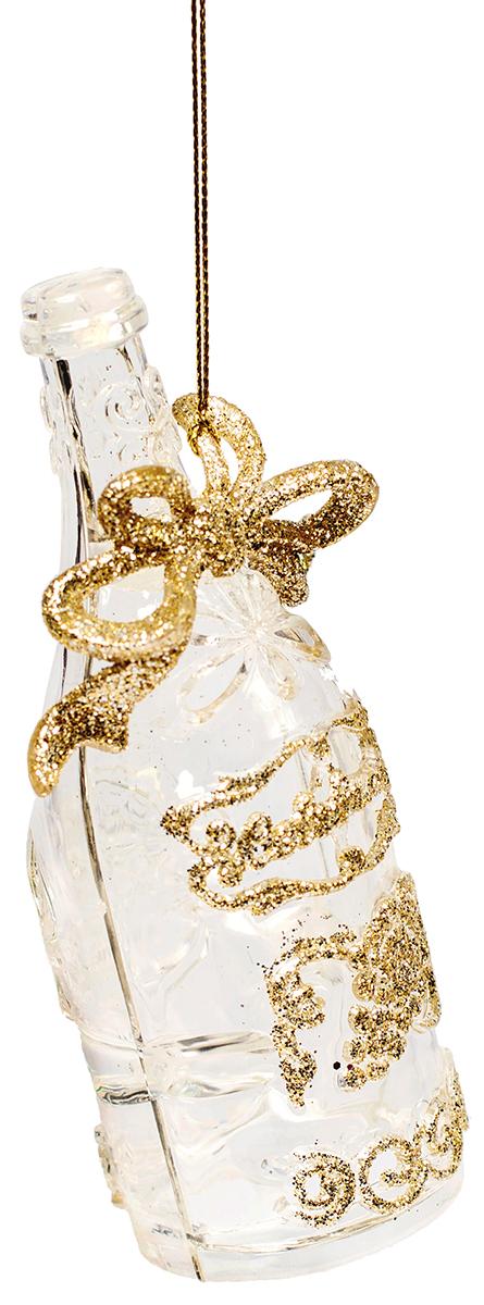 Новогоднее подвесное украшение Magic Time Шампанское75962Новогоднее украшение Magic Time, выполненное из полистирола, отлично подойдет для декорации вашего дома и новогодней ели. С помощью специальной петельки украшение можно повесить в любом понравившемся вам месте. Но, конечно, удачнее всего оно будет смотреться на праздничной елке.Елочная игрушка - символ Нового года. Она несет в себе волшебство и красоту праздника. Такое украшение создаст в вашем доме атмосферу праздника, веселья и радости.