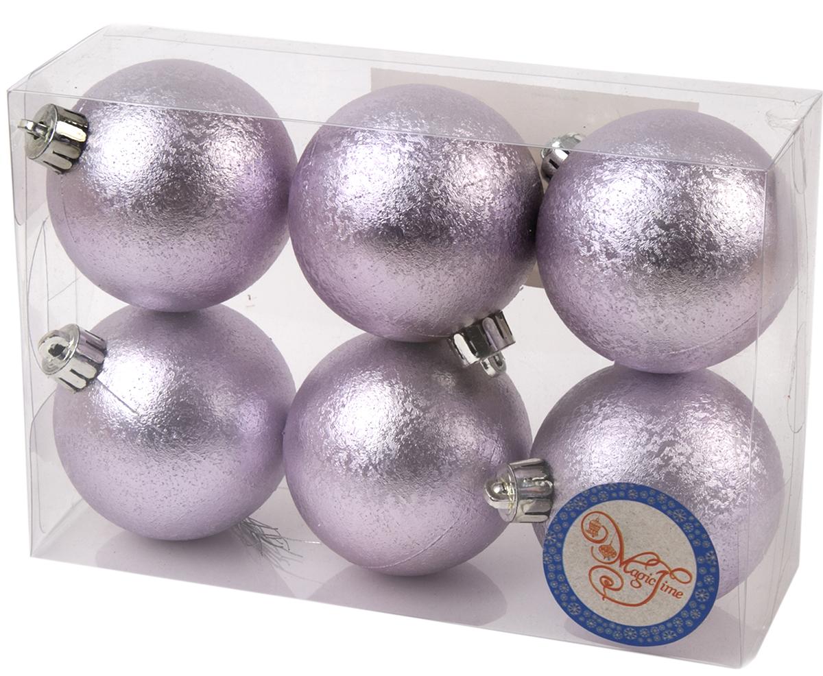 Новогоднее подвесное украшение Magic Time Шар. Зима, цвет: лиловый, 6 шт76006Новогоднее украшение Magic Time, выполненное из полистирола, отлично подойдет для декорации вашего дома и новогодней ели. С помощью специальной петельки украшение можно повесить в любом понравившемся вам месте. Но, конечно, удачнее всего оно будет смотреться на праздничной елке.Елочная игрушка - символ Нового года. Она несет в себе волшебство и красоту праздника. Такое украшение создаст в вашем доме атмосферу праздника, веселья и радости.В наборе 6 подвесных украшений.