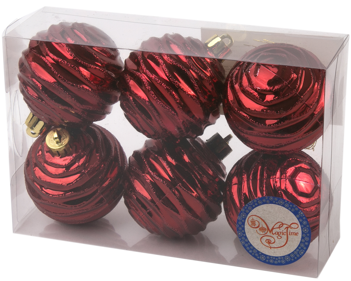 Новогоднее подвесное украшение Magic Time Шар. Галактика, цвет: бордовый, 6 шт76024Новогоднее украшение Magic Time, выполненное из полистирола, отлично подойдет для декорации вашего дома и новогодней ели. С помощью специальной петельки украшение можно повесить в любом понравившемся вам месте. Но, конечно, удачнее всего оно будет смотреться на праздничной елке.Елочная игрушка - символ Нового года. Она несет в себе волшебство и красоту праздника. Такое украшение создаст в вашем доме атмосферу праздника, веселья и радости.В наборе 6 подвесных украшений.