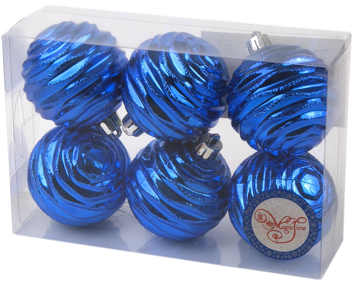 Новогоднее подвесное украшение Magic Time Шар. Галактика, цвет: синий, 6 шт76026Новогоднее украшение Magic Time, выполненное из полистирола, отлично подойдет для декорации вашего дома и новогодней ели. С помощью специальной петельки украшение можно повесить в любом понравившемся вам месте. Но, конечно, удачнее всего оно будет смотреться на праздничной елке.Елочная игрушка - символ Нового года. Она несет в себе волшебство и красоту праздника. Такое украшение создаст в вашем доме атмосферу праздника, веселья и радости.В наборе 6 подвесных украшений.