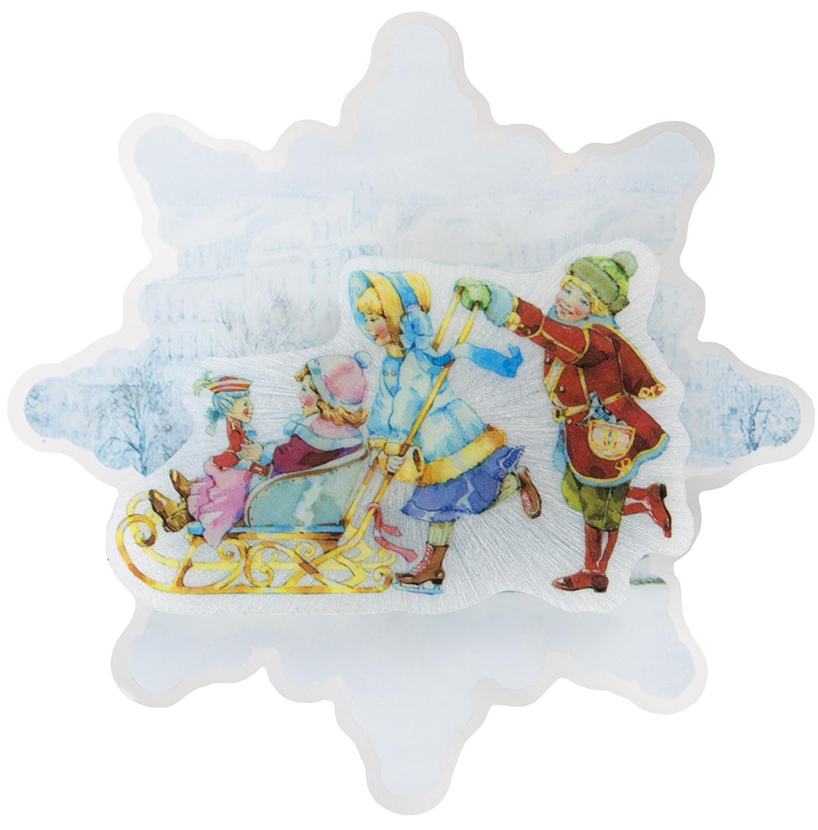 Украшение новогоднее Magic Time Счастливое семейство, с подсветкой украшение новогоднее magic time снеговики со светодиодной подсветкой на присоске 10 5 x 10 x 3 см