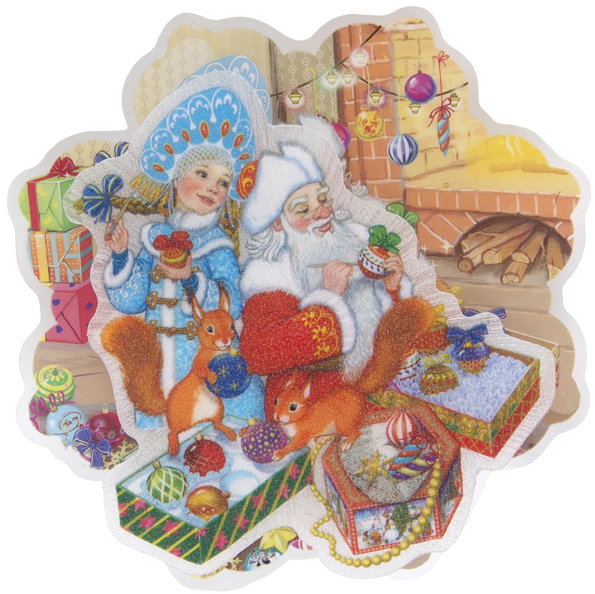 Украшение новогоднее Magic Time Внучка Деда Мороза, с подсветкой новогоднее оконное украшение room decoration подарки от деда мороза 18 см х 18 см 3 листа