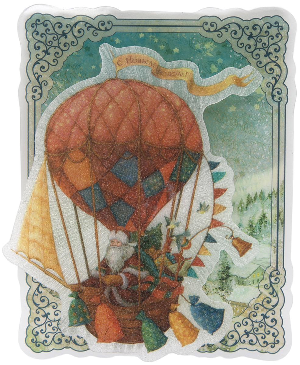 Украшение новогоднее Magic Time Доставка подарков, с подсветкой украшение новогоднее magic time снеговики со светодиодной подсветкой на присоске 10 5 x 10 x 3 см