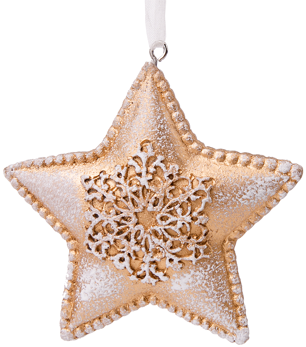 Украшение новогоднее подвесное Magic Time Снежная звезда украшение новогоднее подвесное magic time буква 3 стеклянное