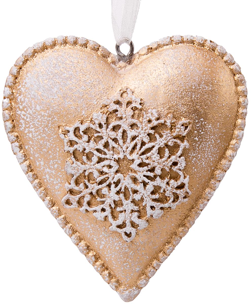 Украшение новогоднее подвесное Magic Time Снежное сердце76164Новогоднее подвесное украшение Снежное сердце выполнено из полирезина.