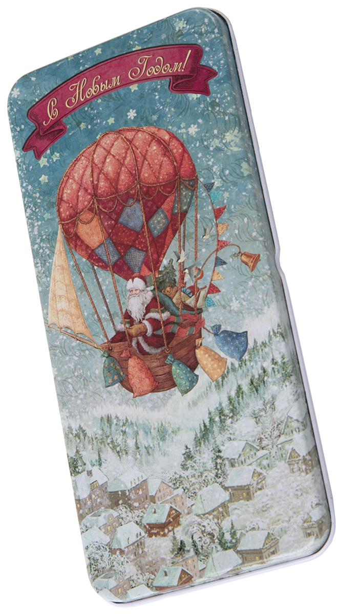 Коробочка для денег подарочная Magic Time Доставка подарков. 7634276342Подарочная коробочка для денег Конверт для денег Доставка подарков из черного окрашенного металла, 16,6 х 7,6 х 1см, артикул 76342