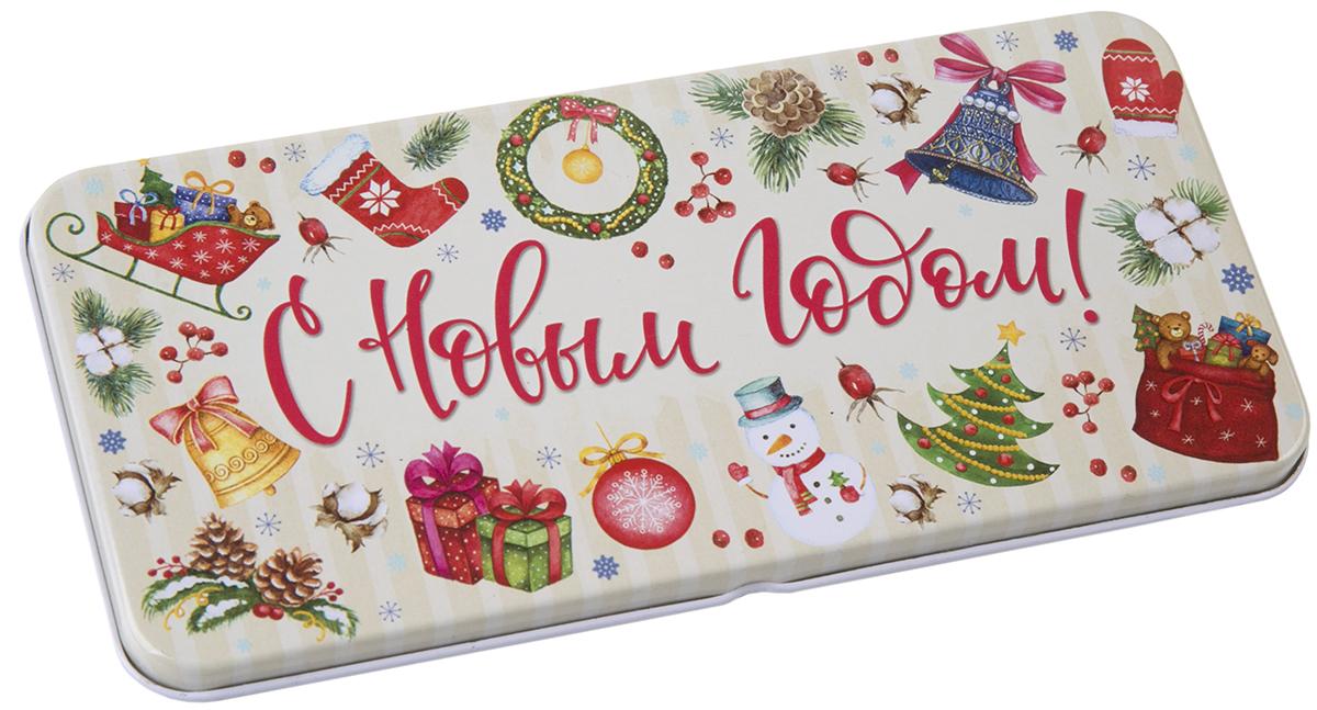 Коробочка для денег подарочная Magic Time Новогодний калейдоскоп. 763462391867Коробочка для денег Magic Time, выполненная из черного окрашенного металла. Крышка оформлена декоративным рисунком. Окружите близких людей вниманием и заботой, вручив презент в нарядном, праздничном оформлении.