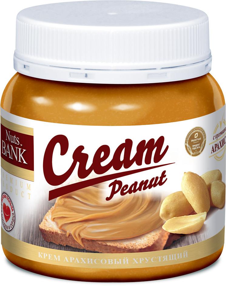 Nuts Bank Крем арахисовый с кусочками, 250 г