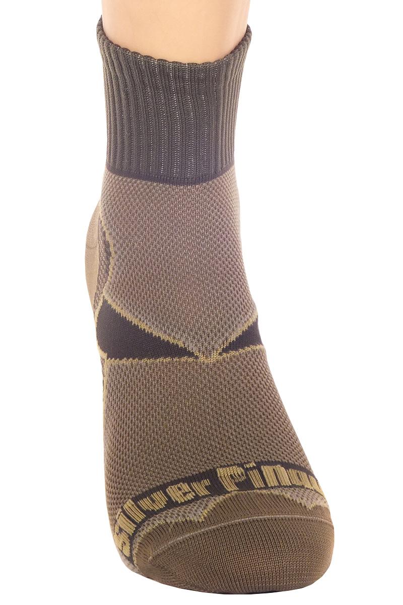 Термоноски мужские Серебряный пингвин, цвет:  серый, коричневый.  А003.  Размер S (36/38) Серебряный пингвин