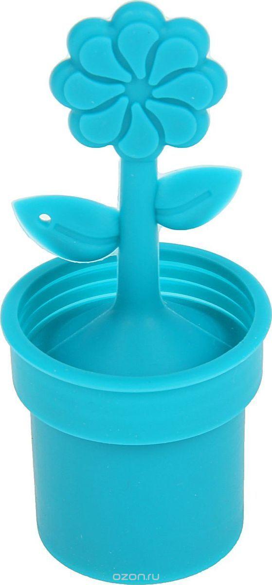 Ситечко для чая Доляна Ромашка, 12 х 5 см861121Силиконовое ситечко поможет вам быстро заварить листовой чай прямо в кружке. Всё, что нужно — это насыпать внутрь смесь и плотно закрыть ёмкость крышкой.