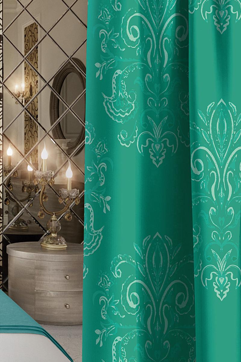 Штора Волшебная ночь Emerald Tale, на ленте, цвет: зеленый, высота 270 смGST_0008Шторы коллекции Волшебная ночь - это готовое решение для Вашего интерьера, гарантирующее красоту, удобство и индивидуальный стиль!Длина штор регулируется с помощью клеевой паутинки (в комплекте). Изделия крепятся на вшитую шторную ленту: на крючки или путем продевания на карниз. Дизайнеры Марки предлагают уже сформированные комплекты штор из различных тканей и рисунков для создания идеальной композиции на окне. Для удобства выбора дизайны штор распределены в стилевые коллекции: ЭТНО, ВЕРСАЛЬ, ЛОФТ, ПРОВАНС. В коллекции Волшебная ночь к данной шторе Вы также сможете подобрать шторы из тканей: ВУАЛЬ - легкое затемнение, декоративная функция, БЛЭКАУТ (100% затемненение), сатен и ГАБАРДИН (частичное затемнение), которые будут прекрасно сочетаться по дизайну и обеспечат особый уют Вашему дому.