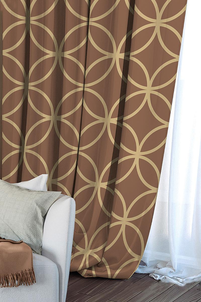 Штора Волшебная ночь Chocolate Mandarin, на ленте, цвет: светло-коричневый, высота 270 см704545Шторы коллекции Волшебная ночь - это готовое решение для Вашего интерьера, гарантирующее красоту, удобство и индивидуальный стиль! Длина штор регулируется с помощью клеевой паутинки (в комплекте). Изделия крепятся на вшитую шторную ленту: на крючки или путем продевания на карниз. Дизайнеры Марки предлагают уже сформированные комплекты штор из различных тканей и рисунков для создания идеальной композиции на окне. Для удобства выбора дизайны штор распределены в стилевые коллекции: ЭТНО, ВЕРСАЛЬ, ЛОФТ, ПРОВАНС. В коллекции Волшебная ночь к данной шторе Вы также сможете подобрать шторы из тканей: ВУАЛЬ - легкое затемнение, декоративная функция, БЛЭКАУТ (100% затемненение), сатен и ГАБАРДИН (частичное затемнение), которые будут прекрасно сочетаться по дизайну и обеспечат особый уют Вашему дому.