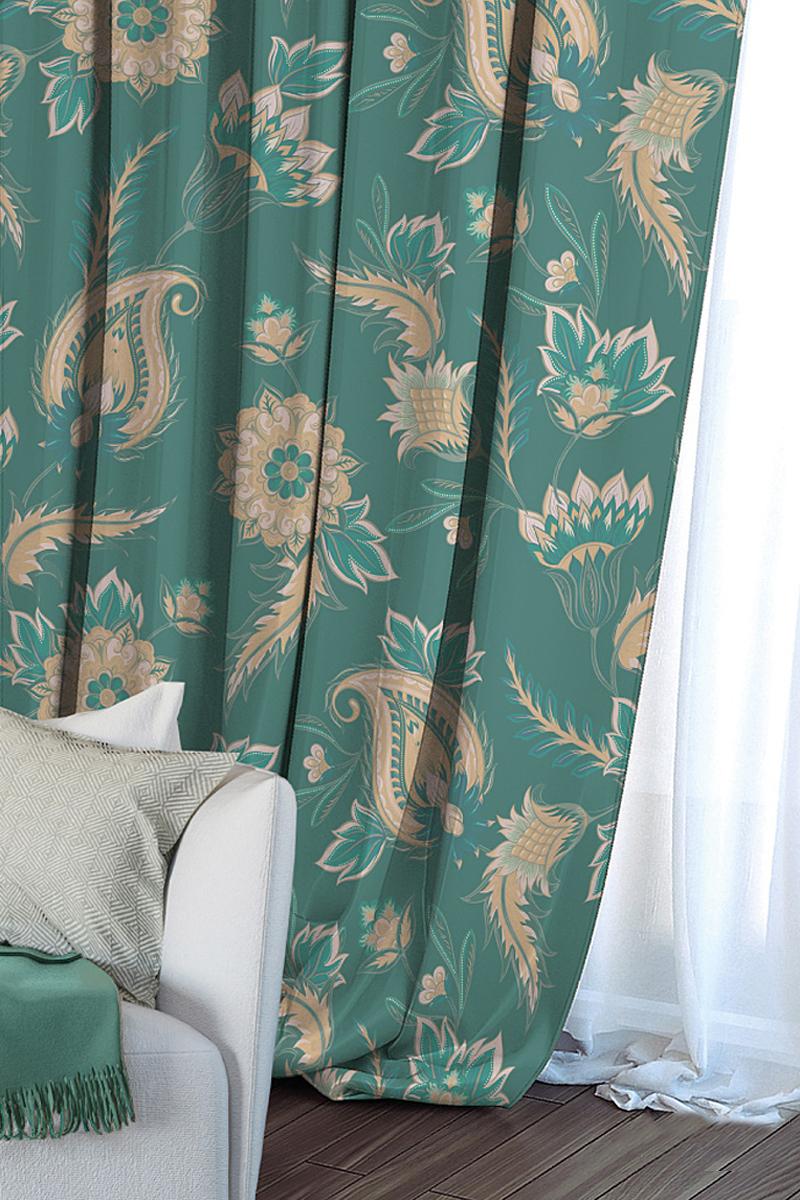 Штора Волшебная ночь Wizard, на ленте, цвет: зеленый, высота 270 см704546Шторы коллекции Волшебная ночь - это готовое решение для Вашего интерьера, гарантирующее красоту, удобство и индивидуальный стиль! Длина штор регулируется с помощью клеевой паутинки (в комплекте). Изделия крепятся на вшитую шторную ленту: на крючки или путем продевания на карниз. Дизайнеры Марки предлагают уже сформированные комплекты штор из различных тканей и рисунков для создания идеальной композиции на окне. Для удобства выбора дизайны штор распределены в стилевые коллекции: ЭТНО, ВЕРСАЛЬ, ЛОФТ, ПРОВАНС. В коллекции Волшебная ночь к данной шторе Вы также сможете подобрать шторы из тканей: ВУАЛЬ - легкое затемнение, декоративная функция, БЛЭКАУТ (100% затемненение), сатен и ГАБАРДИН (частичное затемнение), которые будут прекрасно сочетаться по дизайну и обеспечат особый уют Вашему дому.