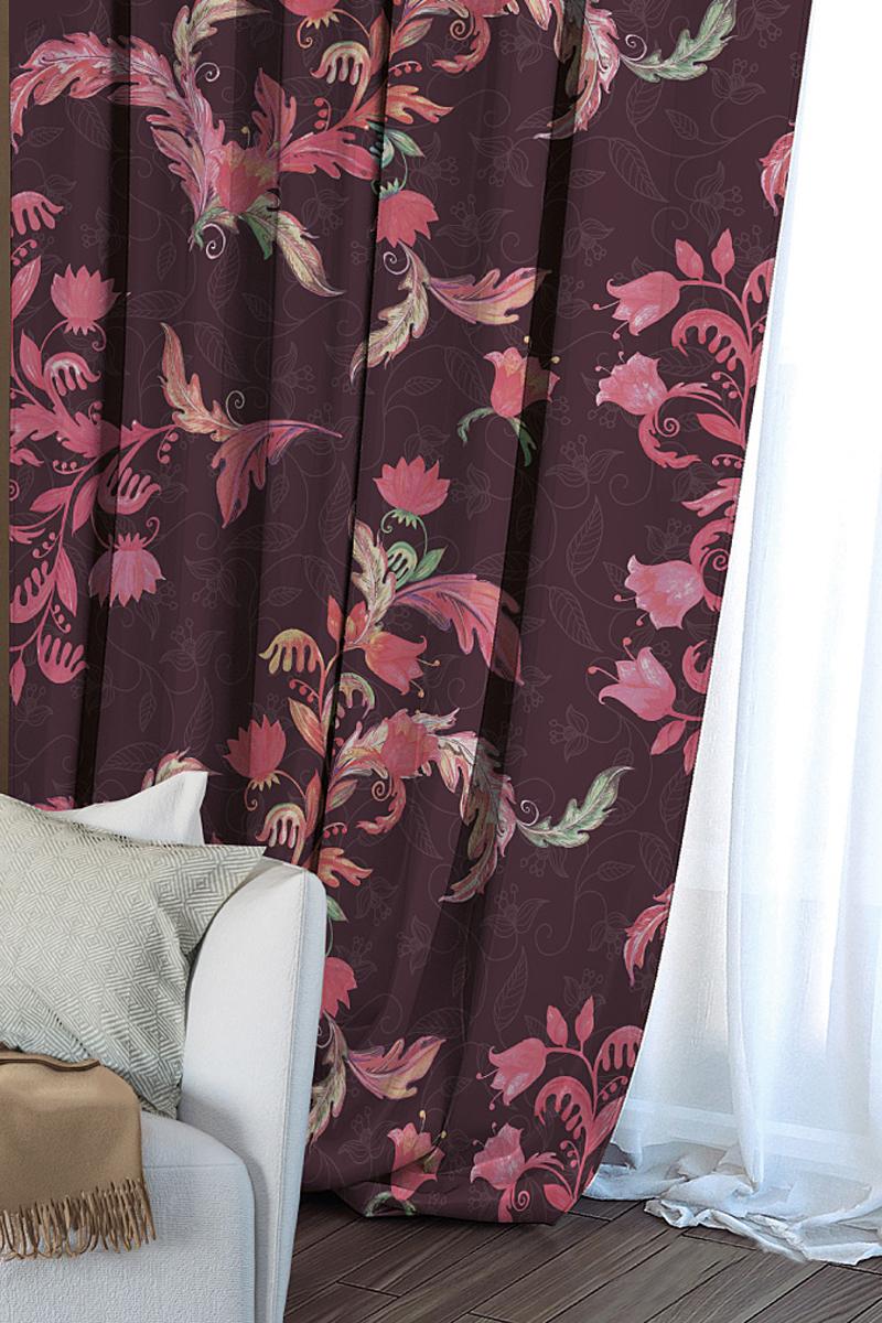 Штора Волшебная ночь Hummingbird, на ленте, цвет: бордовый, высота 270 см704549Шторы коллекции Волшебная ночь - это готовое решение для Вашего интерьера, гарантирующее красоту, удобство и индивидуальный стиль!Длина штор регулируется с помощью клеевой паутинки (в комплекте). Изделия крепятся на вшитую шторную ленту: на крючки или путем продевания на карниз. Дизайнеры Марки предлагают уже сформированные комплекты штор из различных тканей и рисунков для создания идеальной композиции на окне. Для удобства выбора дизайны штор распределены в стилевые коллекции: ЭТНО, ВЕРСАЛЬ, ЛОФТ, ПРОВАНС. В коллекции Волшебная ночь к данной шторе Вы также сможете подобрать шторы из тканей: ВУАЛЬ - легкое затемнение, декоративная функция, БЛЭКАУТ (100% затемненение), сатен и ГАБАРДИН (частичное затемнение), которые будут прекрасно сочетаться по дизайну и обеспечат особый уют Вашему дому.