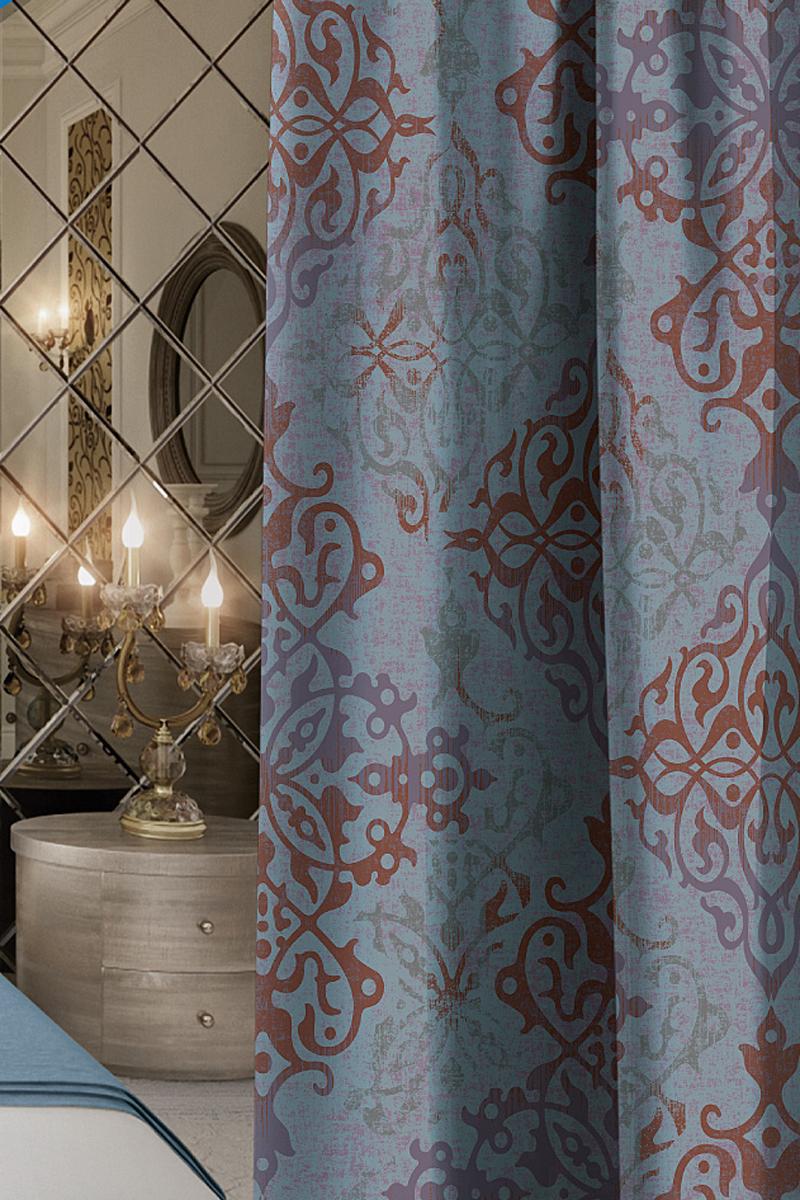Штора Волшебная ночь Overseas, на ленте, цвет: серый, высота 270 см705454Шторы Волшебная ночь - это готовое решение для вашего интерьера, гарантирующее красоту, удобство и индивидуальный стиль! Штора Overseas изготовлена из ткани Blackout. Blackout - это ткань, которая совершенно не пропускает солнечные лучи и способна затенять помещение на 90-100%. Длина шторы регулируется с помощью клеевой паутинки (в комплекте). Изделие крепится на вшитую шторную ленту: на крючки или путем продевания на карниз.Дизайнеры марки Волшебная ночь предлагают уже сформированные комплекты штор из различных тканей и рисунков для создания идеальной композиции на окне. Для удобства выбора дизайны штор распределены в стилевые коллекции: этно, версаль, лофт, прованс.