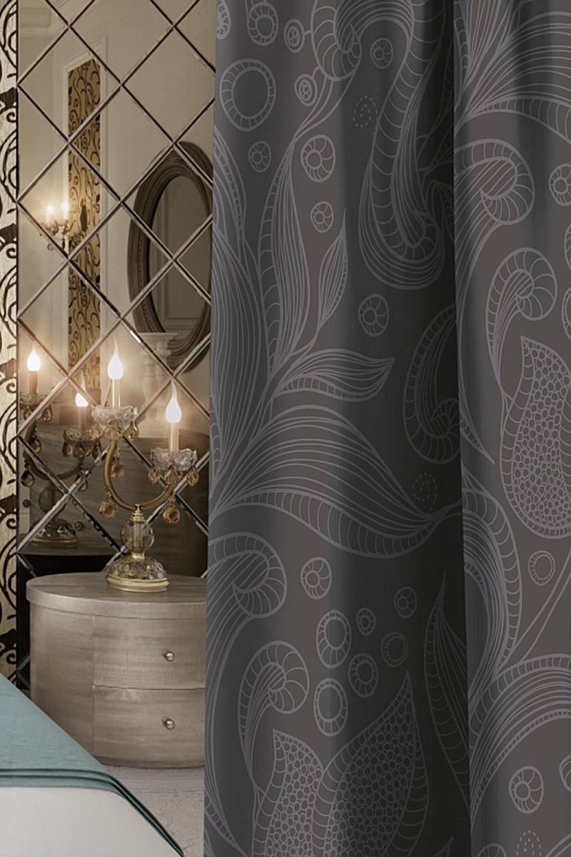 """Шторы коллекции """"Волшебная ночь"""" - это готовое решение для интерьера, гарантирующее  красоту, удобство и индивидуальный стиль!  Штора изготовлена из приятной на ощупь ткани Blackout, которая плотно драпирует окно, но  позволяет свету частично проникать внутрь. Длина шторы регулируется с помощью клеевой  паутинки (в комплекте). Изделие крепится на вшитую шторную ленту: на крючки или путем  продевания на карниз."""