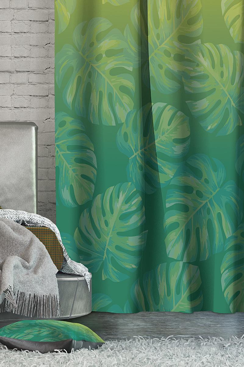 Штора Волшебная ночь Tropics, на ленте, цвет: зеленый, высота 270 см705461Шторы коллекции Волшебная ночь - это готовое решение для Вашего интерьера, гарантирующее красоту, удобство и индивидуальный стиль! Длина штор регулируется с помощью клеевой паутинки (в комплекте). Изделия крепятся на вшитую шторную ленту: на крючки или путем продевания на карниз. Дизайнеры Марки предлагают уже сформированные комплекты штор из различных тканей и рисунков для создания идеальной композиции на окне. Для удобства выбора дизайны штор распределены в стилевые коллекции: ЭТНО, ВЕРСАЛЬ, ЛОФТ, ПРОВАНС. В коллекции Волшебная ночь к данной шторе Вы также сможете подобрать шторы из тканей: ВУАЛЬ - легкое затемнение, декоративная функция, БЛЭКАУТ (100% затемненение), сатен и ГАБАРДИН (частичное затемнение), которые будут прекрасно сочетаться по дизайну и обеспечат особый уют Вашему дому.