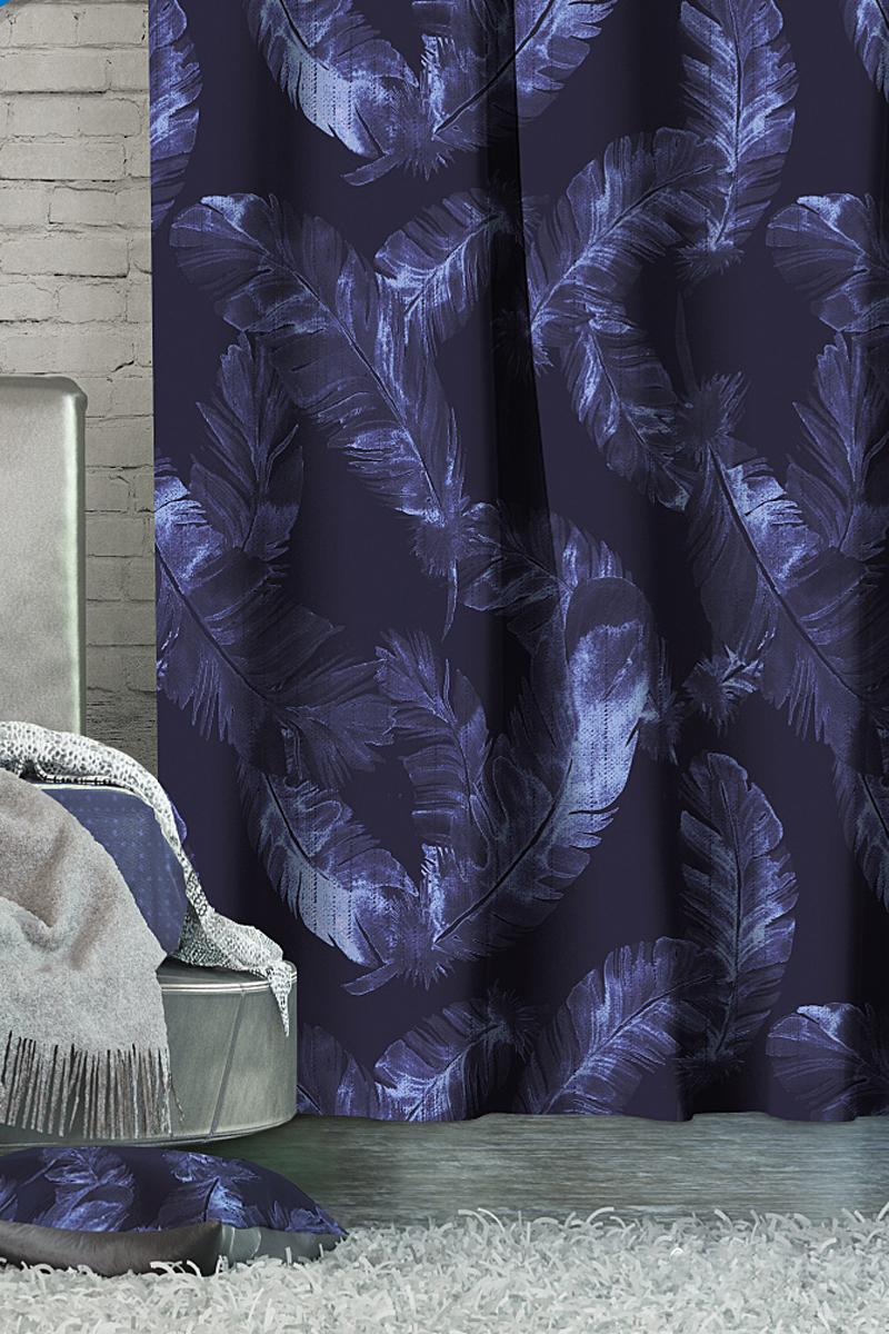 Штора Волшебная ночь Magic, на ленте, цвет: темно-синий, высота 270 см705464Шторы коллекции Волшебная ночь - это готовое решение для Вашего интерьера, гарантирующее красоту, удобство и индивидуальный стиль! Длина штор регулируется с помощью клеевой паутинки (в комплекте). Изделия крепятся на вшитую шторную ленту: на крючки или путем продевания на карниз. Дизайнеры Марки предлагают уже сформированные комплекты штор из различных тканей и рисунков для создания идеальной композиции на окне. Для удобства выбора дизайны штор распределены в стилевые коллекции: ЭТНО, ВЕРСАЛЬ, ЛОФТ, ПРОВАНС. В коллекции Волшебная ночь к данной шторе Вы также сможете подобрать шторы из тканей: ВУАЛЬ - легкое затемнение, декоративная функция, БЛЭКАУТ (100% затемненение), сатен и ГАБАРДИН (частичное затемнение), которые будут прекрасно сочетаться по дизайну и обеспечат особый уют Вашему дому.
