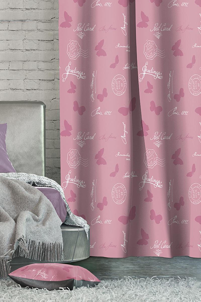 Штора Волшебная ночь Wishes, на ленте, цвет: розовый, высота 270 см705466Шторы Волшебная ночь - это готовое решение для вашего интерьера, гарантирующее красоту, удобство и индивидуальный стиль! Штора изготовлена из ткани Blackout. Blackout - это ткань, которая совершенно не пропускает солнечные лучи и способна затенять помещение на 90-100%. Длина шторы регулируется с помощью клеевой паутинки (в комплекте). Изделие крепится на вшитую шторную ленту: на крючки или путем продевания на карниз. Дизайнеры марки Волшебная ночь предлагают уже сформированные комплекты штор из различных тканей и рисунков для создания идеальной композиции на окне. Для удобства выбора дизайны штор распределены в стилевые коллекции: этно, версаль, лофт, прованс.