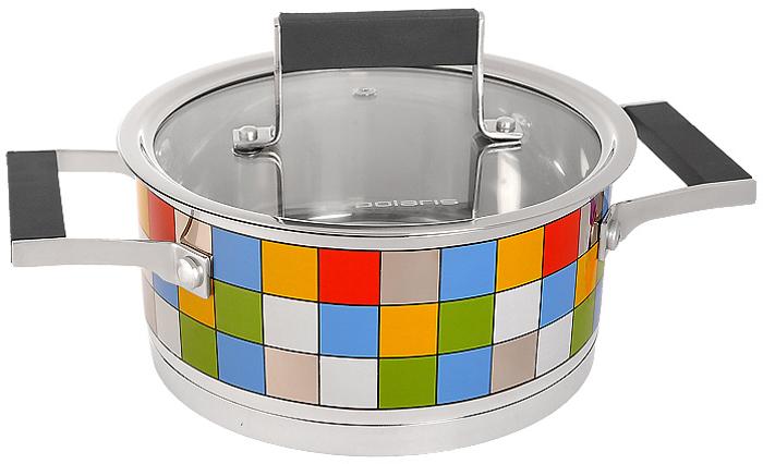 Кастрюля Polaris Mosaic с крышкой, 2 лMOSAIC 18SPКастрюля Polaris Mosaic идеально подойдет для приготовления вкусной и здоровой пищи. Она изготовлена из высококачественной нетоксичной хромоникелевой нержавеющей стали 18/10. Зеркальная полировка с уникальной мозаичной деколью с внешней стороны придает посуде привлекательный вид. Специальное утолщенное тройное дно (5,6 мм) с прослойкой из алюминия (4,5 мм) обеспечивает быстрый и равномерный нагрев кастрюли. Специальная обработка стенок и дна значительно облегчает процесс чистки и мытья посуды. На внутренней стороне стенок имеются отметки литража, что является дополнительным удобством во время приготовления пищи. Кастрюля снабжена двумя удобными не нагревающимися комбинированными ручками из стали с силиконовыми вставками. К кастрюле прилагается крышка, которая позволяет готовить пищу без потери тепла, сокращает сроки приготовления продуктов, максимально сохраняет витамины, микроэлементы и питательные вещества. Стальная ручка крышки также имеет силиконовую вставку, которая обеспечивает безопасное использование. Кастрюля Polaris Mosaic подходит для использования на всех типах плит, включая индукционные. Характеристики:Материал:нержавеющая сталь 18/10, алюминий, стекло, силикон. Объем кастрюли:2 л. Внутренний диаметр кастрюли:18 см. Внешний диаметр кастрюли:19,3 см. Высота стенок кастрюли:9 см. Толщина стенок кастрюли:0,6 мм. Размер упаковки:30 см х 11 см х 20 см. Производитель:США. Изготовитель:Китай. Артикул:MOSAIC 18SP. УВАЖАЕМЫЕ КЛИЕНТЫ!Обращаем ваше внимание на тот факт, что объем ковша указан максимальный, с учетом полного наполнения до кромки, шкала на внутренней стенке имеет меньший литраж.