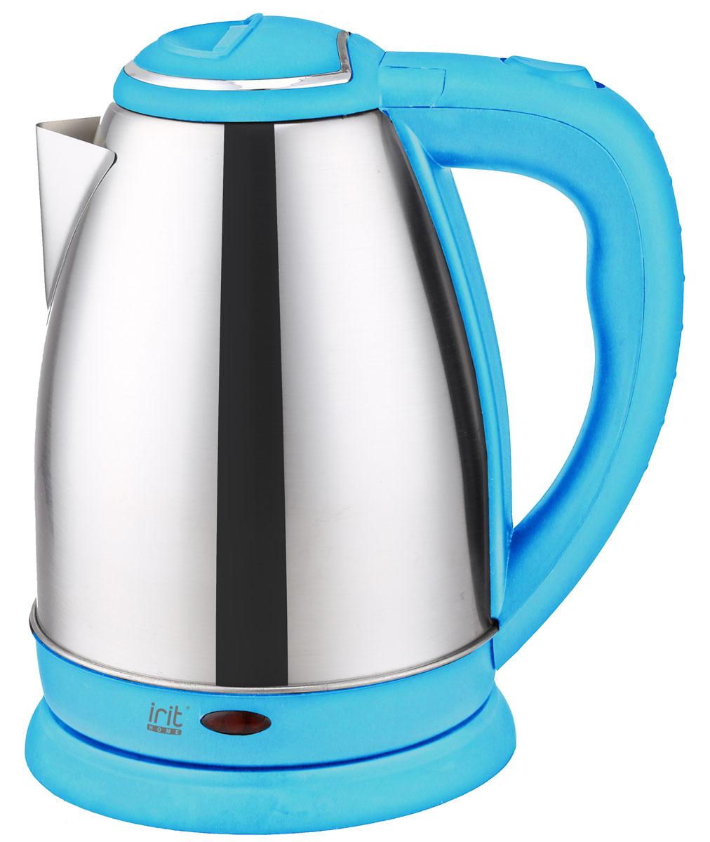 Irit IR-1337, Blue электрический чайникIR-1337_blueЧайник электрический, Мощность 1500 Вт, 1,8л. Дисковый нагревательный элемент, корпус из нержавеющей стали, возможность поворота чайника на подставке 360°, автоотключение при вскипании, защита от работы без воды, световой индикатор работы. Цвет голубой