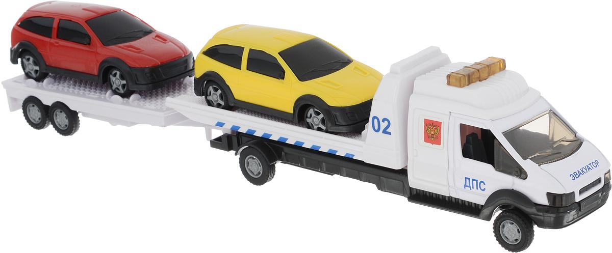 Autotime Набор машинок Recovery Truck Long Эвакуатор с прицепом Полиция машинки autotime машина scania command unit полиция 1 48