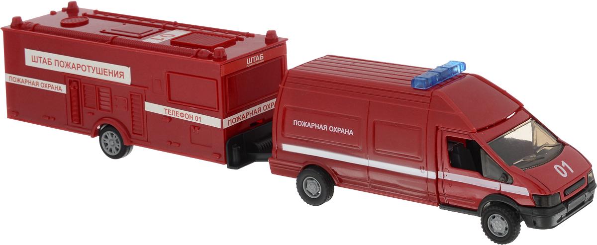 Autotime Машинка Rescue Van Пожарная с прицепом машинки autotime машина uaz 31514 ваи