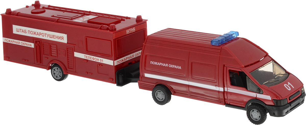 Autotime Машинка Rescue Van Пожарная с прицепом машинки autotime машина bavaria gran turismo пожарная охрана