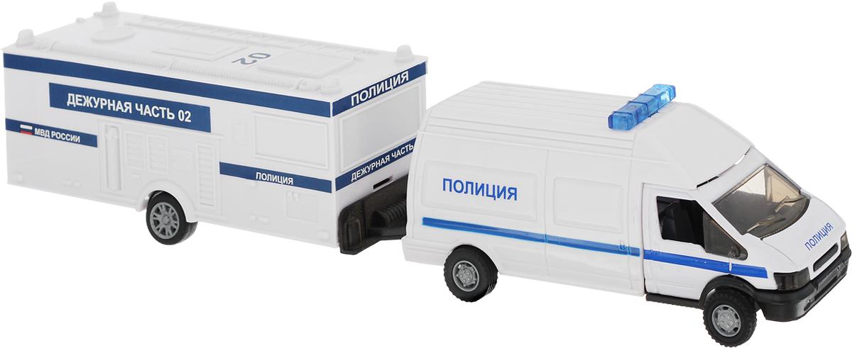 Autotime Машинка Rescue Van Полиция с прицепом машинки autotime машина uaz 31514 ваи
