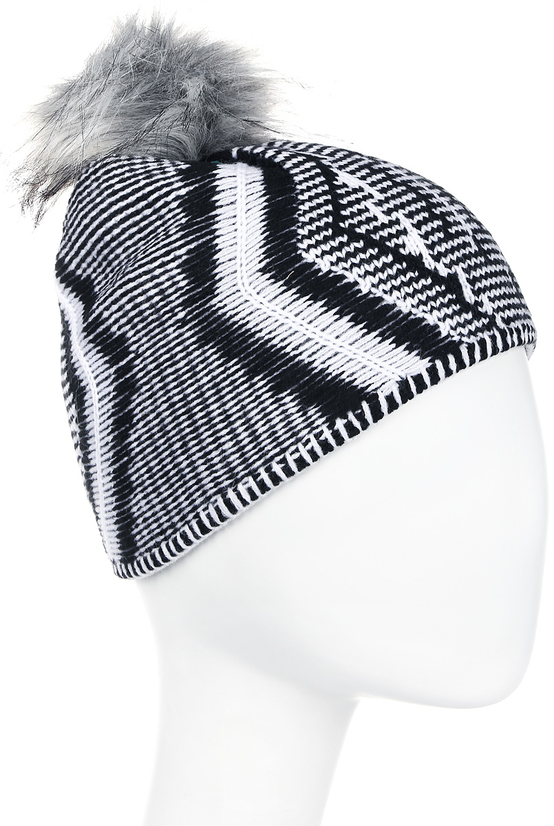 Шапка женская Icepeak, цвет: черный, белый. 855806691IV-990. Размер универсальный855806691IV-990