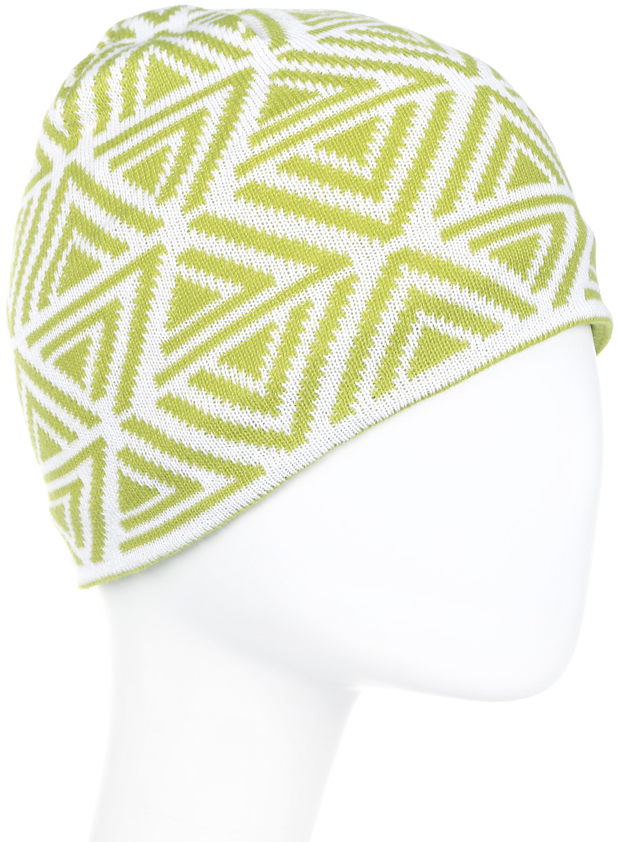 Шапка мужская Icepeak, цвет: зеленый, белый. 858843579IV-510. Размер универсальный