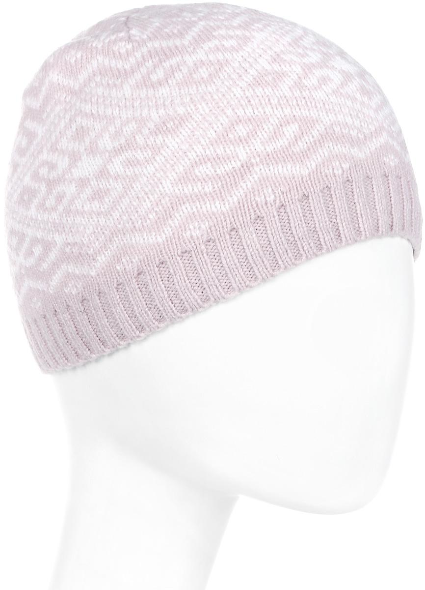 Шапка женская Luhta, цвет: светло-розовый, белый. 838608300LV-620. Размер универсальный футболка luhta luhta lu692ewauhs6