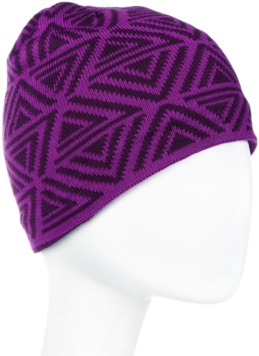 Шапка мужская Icepeak, цвет: фиолетовый, черный. 858843579IV-750. Размер универсальный