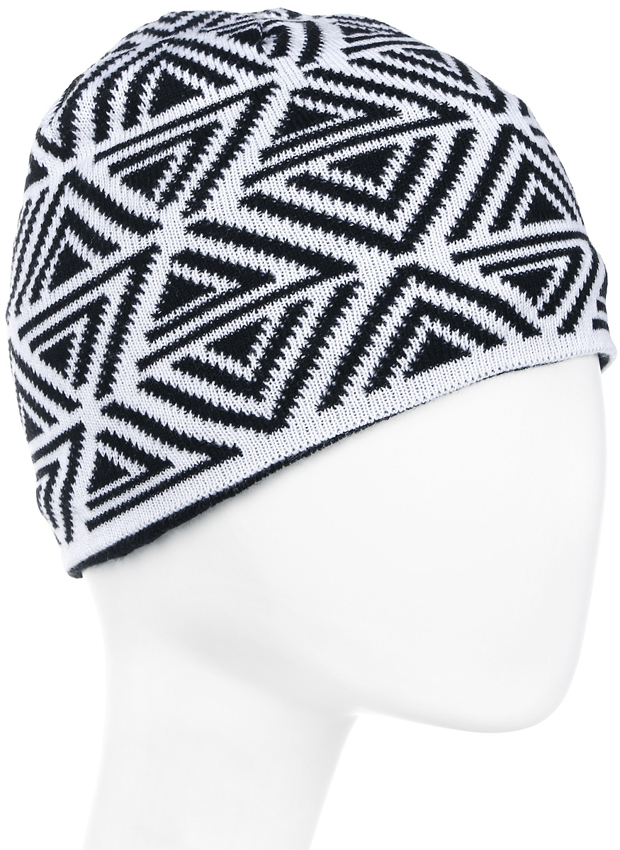 Шапка мужская Icepeak, цвет: черный, белый. 858843579IV-990. Размер универсальный858843579IV-990
