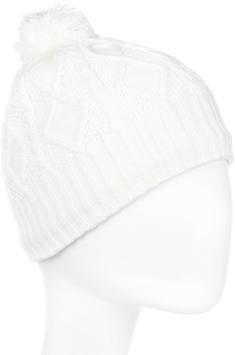 Шапка женская Icepeak, цвет: белый. 855841691IV-010. Размер универсальный855841691IV-010