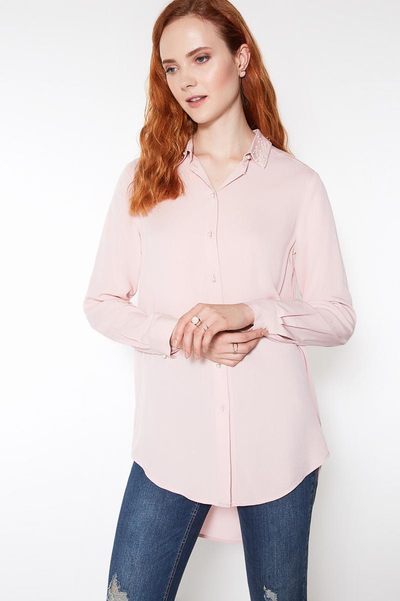 Блузка женская Concept Club Nobby, цвет: розовый. 10200260181. Размер S (44)